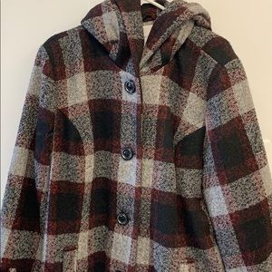 Wool Blend Lined Peacoat